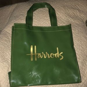 Harrods vintage patent leather shopping bag/tote